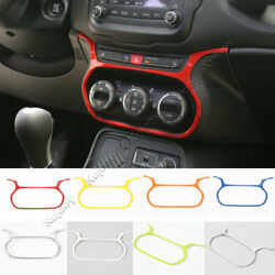 8Color Air Conditioner Control Button Cover Trim Frame for Jeep Renegade 2015-16