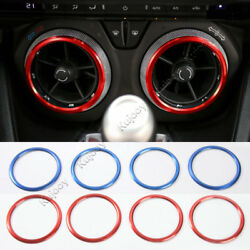 Red Blue Air Conditioner Air Outlet Vent Cover Trim For Chevrolet Camaro 2017+