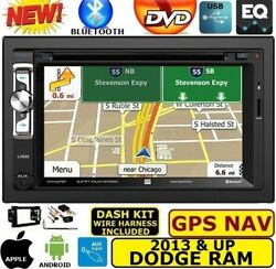 2013 And Up Ram Dvd/cd/usb Navigation Bluetooth Double Din Car Stereo Radio Pkg