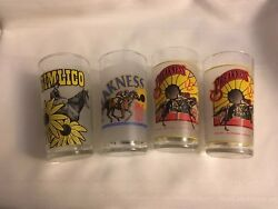 Preakness Pimlico 1978, 1996 And 1997 Drinking Glasses Set Of 4