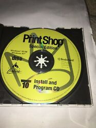 Print Shop Special Edition Version 10-install And Program Cd-95/98/nt-rare-tested