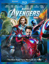 Marvels The Avengers Blu-ray/dvd 2012 2-disc Set W/ Slipcover Phase One