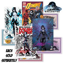 Domino 1a1b1c1d Signed By J. Scott Campbell Jsc Exclusive W/coa