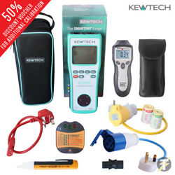 New Kewtech Ezypat Battery Operated Pat Tester W/ Adaptors And Accessories Kit5f