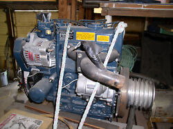 Kubota Diesel Motor 23 Hp With 4-gang Shiv Pulley Low Hours Has Only 15 Hours.