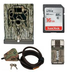 Browning Trail Camera Security Box With Cable Lock And 16gb Card With Usb Reader