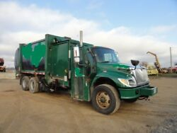 2004 international 7400 side load garbage truck runs and operates bond title