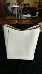 NWT The Frye Company Leather Harness Crossbody Bucket Bag (White) RP $358