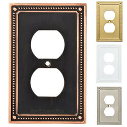 Electrical Outlet Duplex Wall Plate Light Switch Cover Decorative Brass White