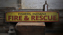 Fire Rescue Decor Wood Fire Rescue Sign -distressed Wooden Sign