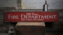 Old Town Fire Dept Sign, Fire Department Sign -distressed Wooden Sign