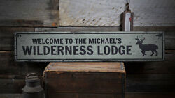 Wilderness Lodge Sign, Wood Lodge Decor -distressed Wooden Sign