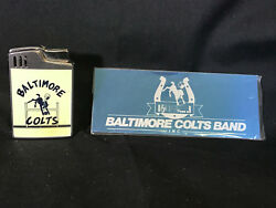 Vtg Collectible Baltimore Colts Hadson Blue Bird Musical Lighter W/ Band Plate