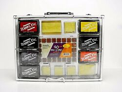 40 Piece Mini Stamps Holiday Theme Set. In Carrying Case