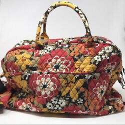 vera bradley weekender Travel Bag With Makeup Case Red And Yellow Large Tote