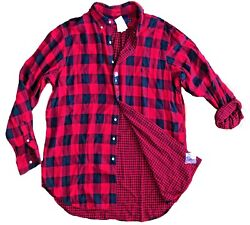 Polo Big And Tall Lumberjack Plaid Red And Black Flannel Lined Shirt