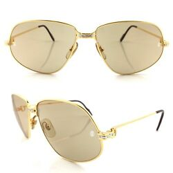 OCCHIALI CARTIER PANTHERE T8200038 VINTAGE SUNGLASSES 18KT GOLD PLATED 1988's