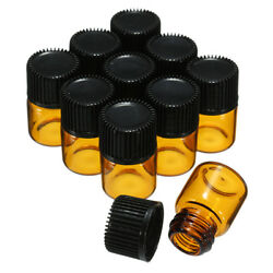 1ml/1ccamber Glass Bottle Sample Essential Oil Small Container With Lids 500pcs
