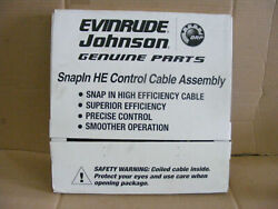 New Johnson Evinrude 764123 Snap Ln High Effici Control Cable 23and039 Shift Throttle