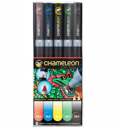 Chameleon Color Tones Double Ended Pens Primary Tones 5 Pcs