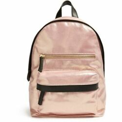 Sheeny Glitter Rose Gold Backpack Handbag Forever 21 BEAUTIFUL Lots of space!!!
