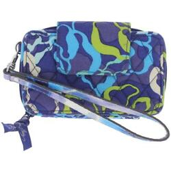 Vera Bradley Womens Blue Quilted Easy Carry Wristlet Wallet Purse OS BHFO 9757