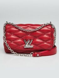 Louis Vuitton Red Quilted Lambskin GO-14 Malletage PM Bag