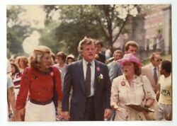 Ted Kennedy And Eunice Kennedy Shriver Vintage Peter Warrack Candid Photo