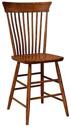 Amish Concord 24 Stationary Counter Height Bar Stool Farmhouse Spindle Set 3