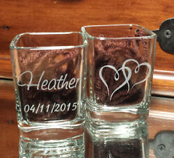 Bed Side Ring Holder Square Glass Free Custom Engraving