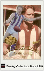 1996 Select Afl Hall Of Fame Team Of The Century Card Tc10 Keith Greig