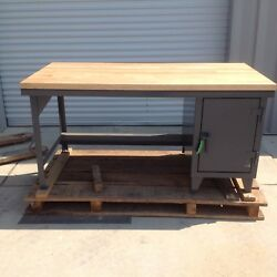 Strong Hold Maple Butcher Block Workbench St-12983 72 X 36 X 36