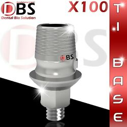 100x Cad/cam Ti-base Interface Dental Implant External Hex Sirona® Compatible