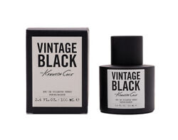 Black Vintage By Kenneth Cole 3.4 Oz Edt Cologne For Men New In Box