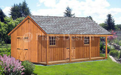 20and039 X 28and039 Storage Shed Home Office Guest House Cottage Or Cabin Plans P52028