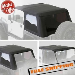 Smittybilt 9973235 Bowless 2-in-1 Combo Soft Top For 1997-2006 Jeep Wrangler Tj