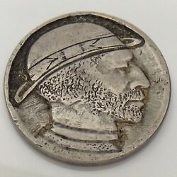 United States Hobo Nickel Five Cents Circulated Carved Token F675