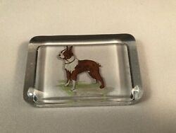 VINTAGE BOSTON TERRIER DOG PAPERWEIGHT