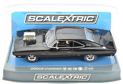Scalextric Black Dodge Charger W Blower DPR W Lights 1 32 Slot Car C3936