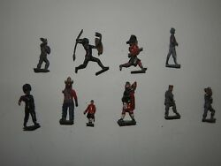 Lot Of 10 Cast Iron Lead Tin Toy Soldiers R17871