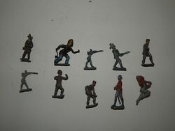 Lot Of 10 Cast Iron Lead Tin Toy Soldiers R17872