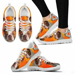 Red Boston Terrier Sneakers For Women- Free Shipping