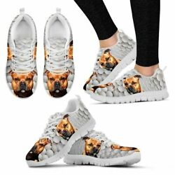 Amazing Staffordshire Bull Terrier Print Running Shoes By Camilla Sanner For Wom