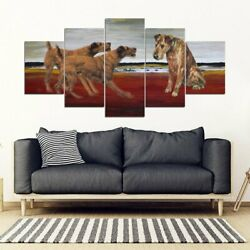 Irish Terrier Print-5 Piece Framed Canvas- Free Shipping