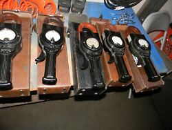 Lot Of 5 Vintage Weston Model 633 Clamp-on Ammeter Cases