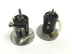 Lot Of 2 Small Precision Tools Tool Chuck And Machining Head With Vacuum