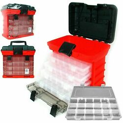 Plastic Tool Box Compartments For Jewelry Making, Beads, Crafts 11 Inch