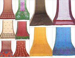 10 PCs Lot Assorted Indian Silk Saree Soft Texture Use It throw Dressing Fashion