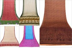 Indian Silk Saree Assorted design 5 PC Lot Soft Texture Multiple Fashion Decor