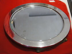 Vintage And Co Sterling Silver Round Mirror 14 1/2and039and039 Frame 925-1000 Stamp